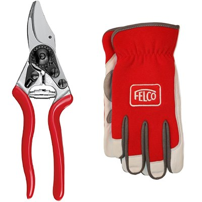Felco Model 6 Compact Secateurs - Gloves Set