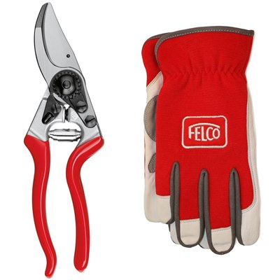 Felco Model 8 Secateurs - Gloves Set
